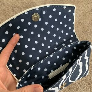 Ann Taylor Navy and White Clutch
